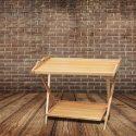Light Brown Folding Table