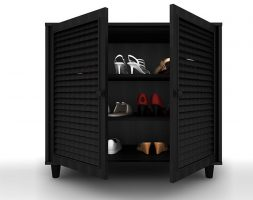 2-door wooden shoe cabinet